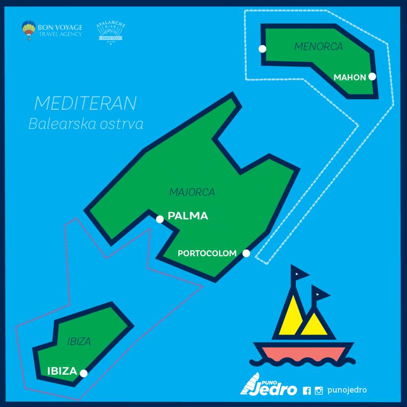 Puno jedro Mapa_ruta11 Belearska ostrva (Majorka)-01
